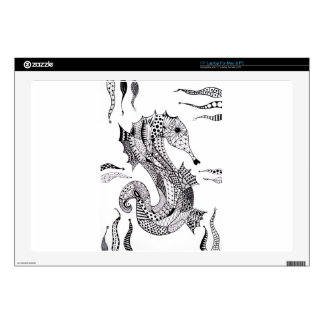 """Sea Horse Decals For 17"""" Laptops"""