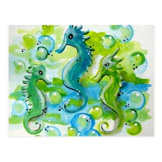 Sea Horse Design Postcard