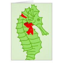 Sea Horse Holidays Card