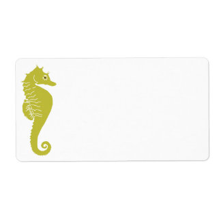 Sea Horse Label