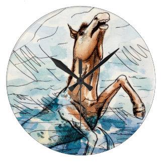 Sea Horse Large Clock