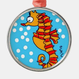 Sea Horse Metal Ornament