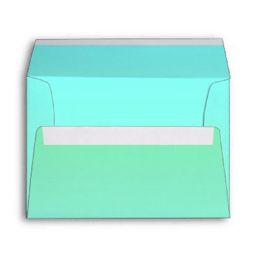 Beach Themed Sea Horse Modern Wedding Envelope