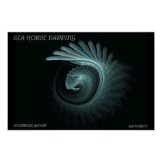 SEA HORSE NAPPING POSTER