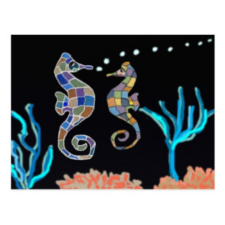 Sea Horse Ocean Theme Postcard