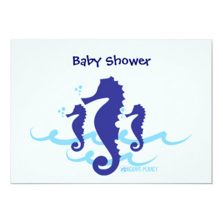 Sea Horse Organic Planet Baby Shower Invitations