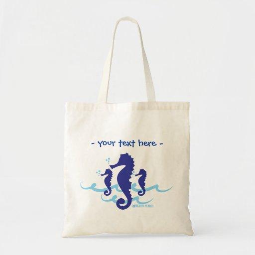 Sea Horse Organic Planet Reusable Canvas Bags