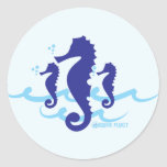 Sea Horse Organic Planet Stickers