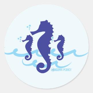 Sea Horse Organic Planet Stickers