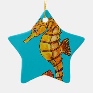 Sea horse ceramic star decoration
