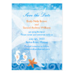 Sea Horse Pair Beach Wedding Save the Date Postcard