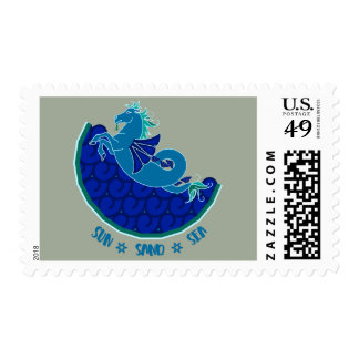 Sea Horse Postage Stamp