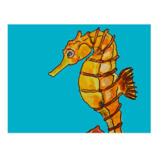 Sea horse postcard