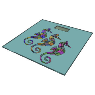 Sea Horse Rainbow Bathroom Scale