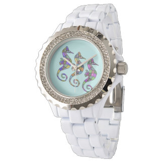Sea Horse Rainbow Wristwatch