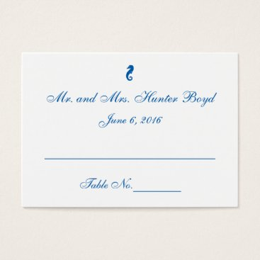 "Beach Themed ""Sea Horse Serenity"" Place Cards"