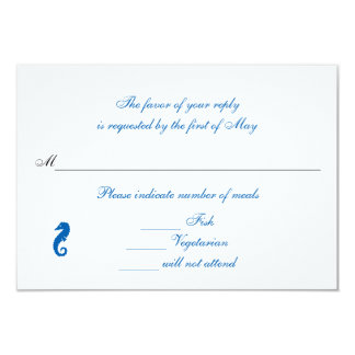 """""""Sea Horse Serenity"""" Rsvp/Reply Cards"""