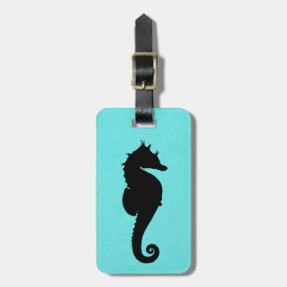 Sea Horse Silhouette Tag For Luggage