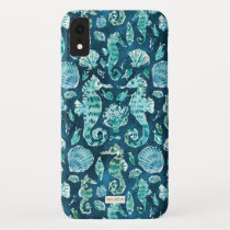 SEA HORSE SOIREE Indigo Coastal iPhone XR Case
