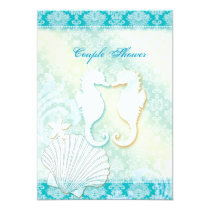 Sea Horse Summer Beach Wedding Couple Shower Card
