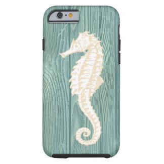 Sea Horse Vintage Aqua Wood Beach iPhone 6 Case