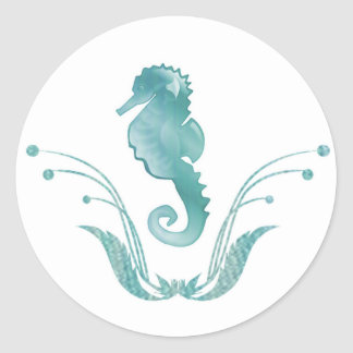 Sea Horse Wedding Envelope Seal Round Stickers
