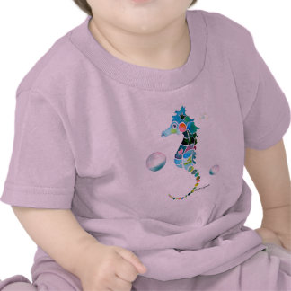Sea Horse with Bubbles Tees