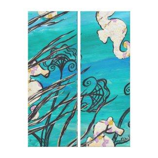 Sea Horses wrappedcanvas