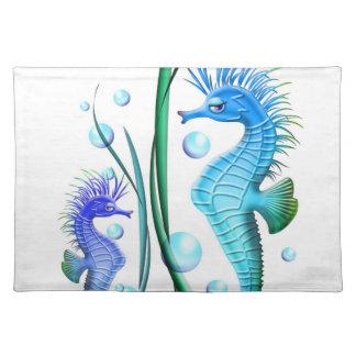 Sea horses Cartoon American MoJo Placemats