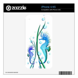 Sea horses Cartoon Phone Zazzle Skin Skin For iPhone 4