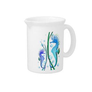 Sea horses Cartoon Pitcher