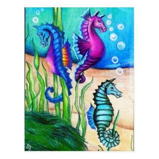 Sea Horses Collection Postcard