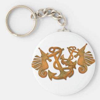 Sea horses keychains