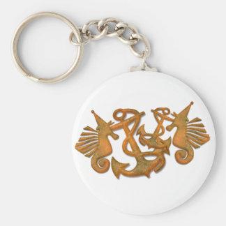 Sea horses key chains