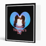 Sea Horses Made For Each Other  Valentine 3 Ring Binder