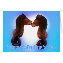 Sea Horses Made for Each Other Valentine Card