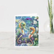 Sea Horses Note Card