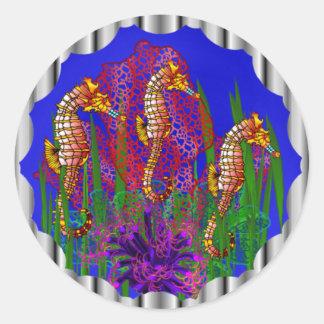 Sea Horses Seaquarium Stickers