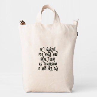 Sea hoy agradecido inspirado bolsa de lona duck