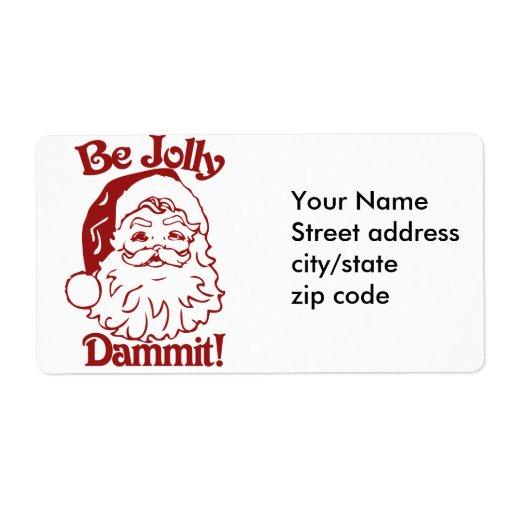 Sea humor alegre del navidad etiquetas de envío