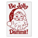 Sea humor alegre del navidad tarjetón