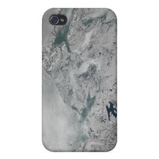 Sea ice above North America iPhone 4/4S Cases