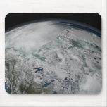 Sea ice above North America Mouse Pad