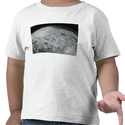 Sea ice above North America T-shirt