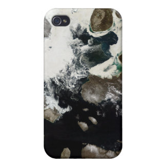Sea ice and sediment visible in Nunavut, Canada iPhone 4/4S Cases