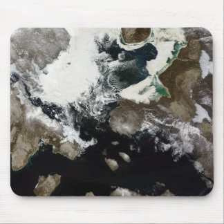 Sea ice and sediment visible in Nunavut, Canada Mouse Pad