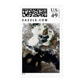 Sea ice and sediment visible in Nunavut, Canada Postage Stamps