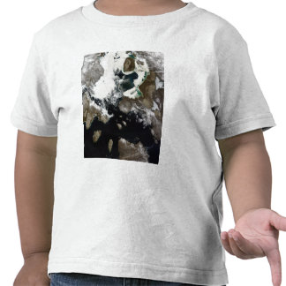 Sea ice and sediment visible in Nunavut, Canada Tshirt