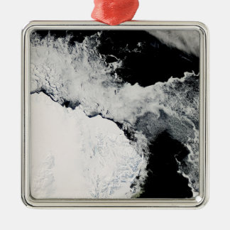 Sea ice in the Southern Ocean Metal Ornament