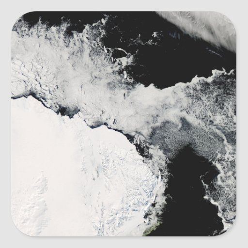 Sea ice in the Southern Ocean Square Sticker